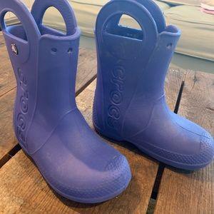 Croc blue kids rain boots - 13